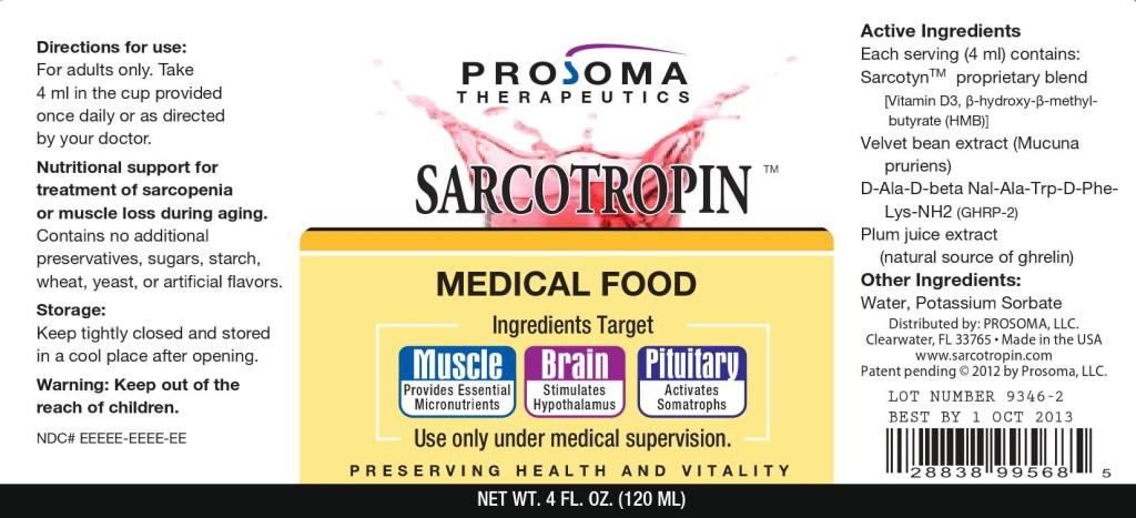 sarcotropin label